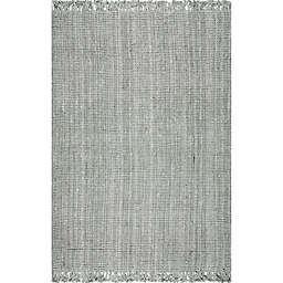 nuLOOM Chunky Loop 4' x 6' Area Rug in Grey