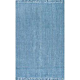 nuLOOM Chunky Loop 5' x 7'6 Area Rug in Blue