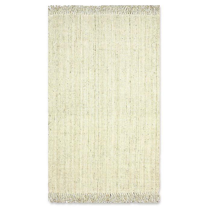 Alternate image 1 for nuLoom Chunky Loop Jute 6-Foot x 9-Foot Area Rug in White