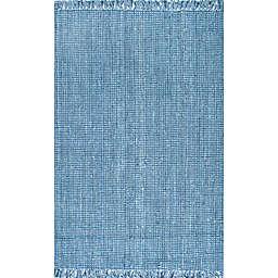 nuLOOM Chunky Loop 6' x 9' Area Rug in Blue