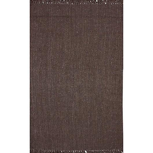 Alternate image 1 for nuLOOM Chunky Loop 7'6 x 9'6 Area Rug in Chocolate