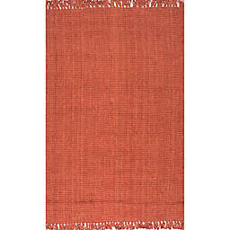 nuLOOM Chunky Loop 7'6 x 9'6 Area Rug in Terracotta