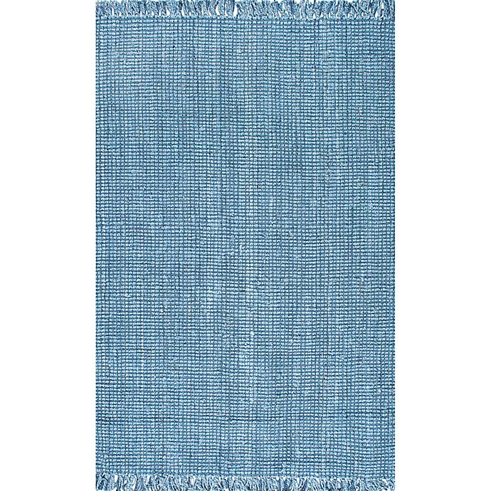 Alternate image 1 for nuLoom Chunky Loop Jute 7-Foot 6-Inch x 9-Foot 6-Inch Area Rug in Blue