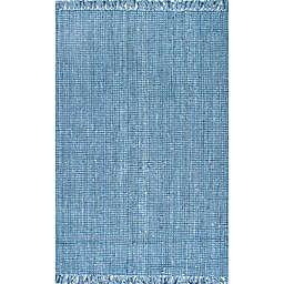 nuLOOM Chunky Loop 7'6 x 9'6 Area Rug in Blue