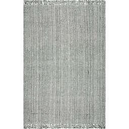 nuLOOM Chunky Loop 8'6 x 11'6 Area Rug in Grey