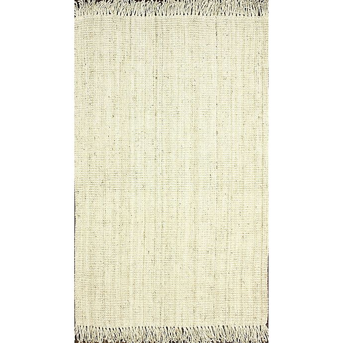Alternate image 1 for nuLoom Chunky Loop Jute 9-Foot 6-Inch x 13-Foot 6-Inch Area Rug in White