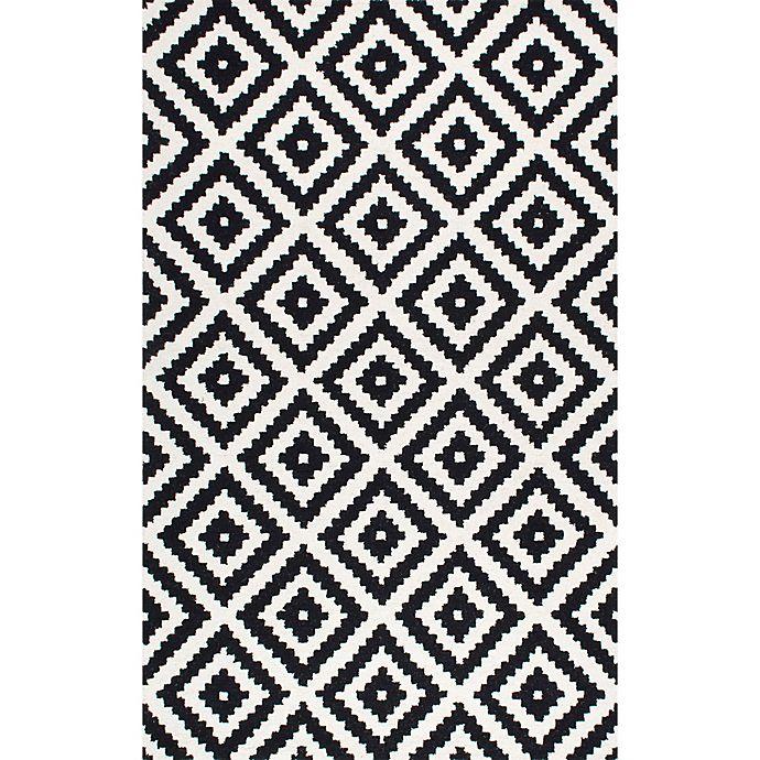 Alternate image 1 for nuLOOM Kellee 7-Foot 6-Inch x 9-Foot 6-Inch Area Rug in Black