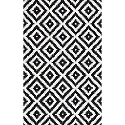 nuLOOM Kellee 7-Foot 6-Inch x 9-Foot 6-Inch Area Rug in Black