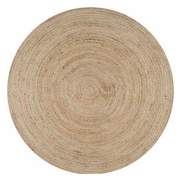 Alternate image 1 for nuLOOM Rigo Jute 4-Foot Round Area Rug in Natural