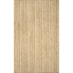 nuLOOM Rigo Jute 4-Foot x 6-Foot Area Rug in Natural