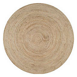 nuLOOM Rigo Jute 6-Foot Round Area Rug in Natural