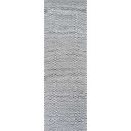 nuLOOM Chunky Woolen Cable 2-Foot 6-Inch x 8-Foot Runner in Light Grey