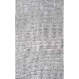 nuLOOM Chunky Woolen Cable 3-Foot x 5-Foot Area Rug in Light Grey