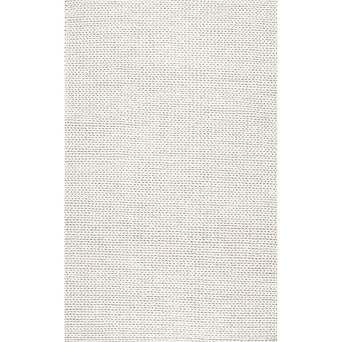 Alternate image 1 for nuLOOM Chunky Woolen Cable 4-Foot x 6-Foot Area Rug in Off-White