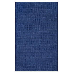 nuLOOM Chunky Woolen Cable 5-Foot x 8-Foot Area Rug in Navy