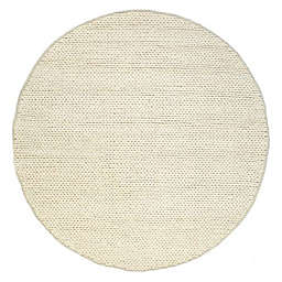 nuLOOM Chunky Woolen Cable 6-Foot Round Area Rug in Off-White