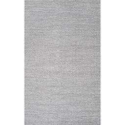 nuLOOM Chunky Woolen Cable 6-Foot Square Area Rug in Light Grey
