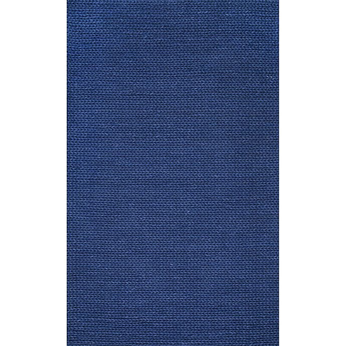 Alternate image 1 for nuLOOM Chunky Woolen Cable 6-Foot x 9-Foot Area Rug in Navy