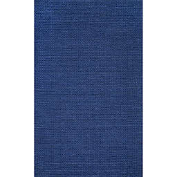 nuLOOM Chunky Woolen Cable 6-Foot x 9-Foot Area Rug in Navy