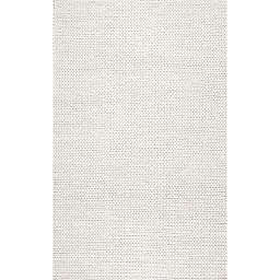 nuLOOM Chunky Woolen Cable 6-Foot x 9-Foot Area Rug in Off-White