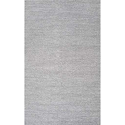 nuLOOM Chunky Woolen Cable 9-Foot x 12-Foot Area Rug in Light Grey