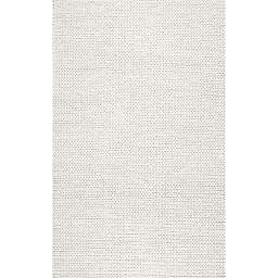 nuLOOM Chunky Woolen Cable 9-Foot x 12-Foot Area Rug in Off-White