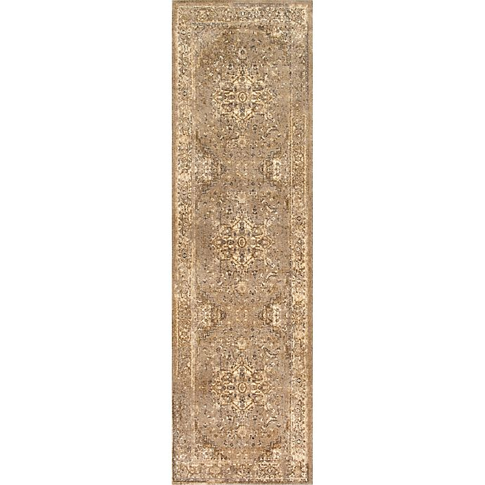 Alternate image 1 for nuLOOM Vintage Reiko 2-Foot 6-Inch x 8-Foot 6-Inch Runner in Natural