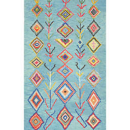 nuLOOM Belini 2-Foot x 3-Foot Accent Rug in Turquoise