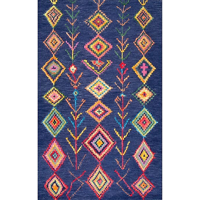 Alternate image 1 for nuLOOM Belini 7-Foot 6-Inch x 9-Foot 6-Inch Area Rug in Navy