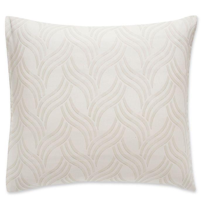 Alternate image 1 for Frette At Home Levanto European Pillow Sham in Ivory Stone
