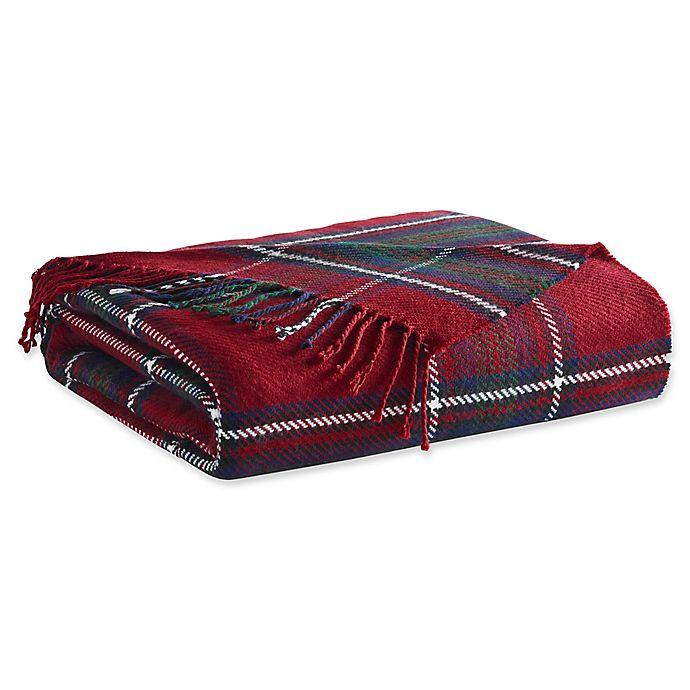 Alternate image 1 for ED Ellen DeGeneres Tartan Plaid Throw Blanket in Red