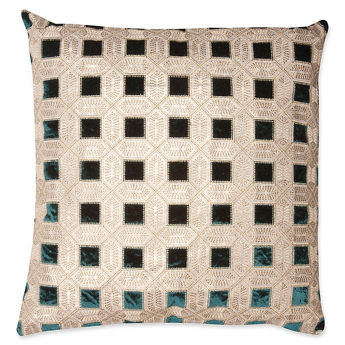 Alternate image 1 for Mayfair Deco Square Throw Pillow in Gold/Green