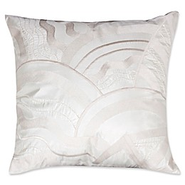Mayfair 2-Toned Beaded Square Throw Pillow in Ivory