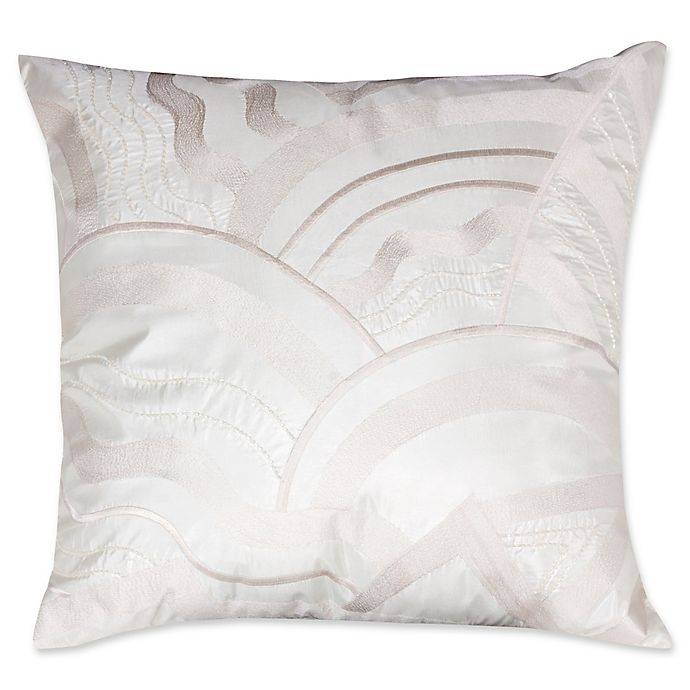 Alternate image 1 for Mayfair 2-Toned Beaded Square Throw Pillow in Ivory