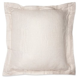 Mayfair Gilded Linen European Pillow Sham in Ivory