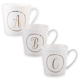 Formations Monogram Mug in White/Gold