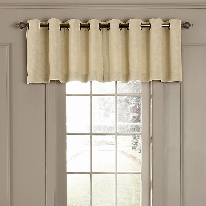 Alternate image 1 for Beautyrest® Arlette Grommet Top Room Darkening Window Valance in Creme