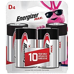 Energizer® Max 4-Pack D 1.5-Volt Alkaline Batteries