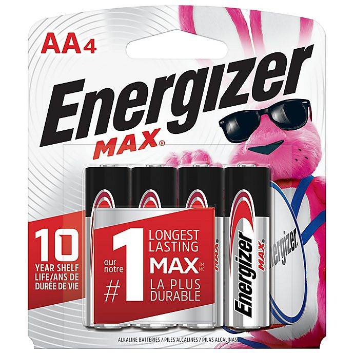 Alternate image 1 for Energizer® Max 4-Pack AA 1.5-Volt Alkaline Batteries