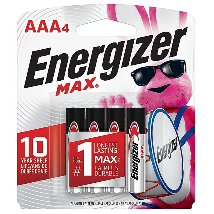 Alternate image 1 for Energizer® Max 4-Pack AAA 1.5-Volt Alkaline Batteries