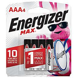 Energizer® Max 4-Pack AAA 1.5-Volt Alkaline Batteries