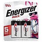 Energizer® Max 2-Pack 9-Volt Alkaline Batteries