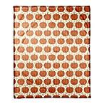 Designs Direct Pumpkins Throw Blanket in Orange