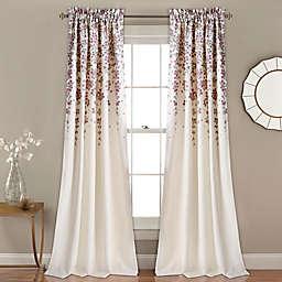 White and pink flower curtains bed bath beyond weeping flower 84 inch room darkening window curtain panel pair mightylinksfo