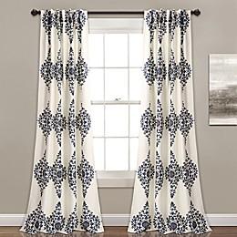 Keya Medallion 84-Inch Room Darkening Window Curtain Panel Pair