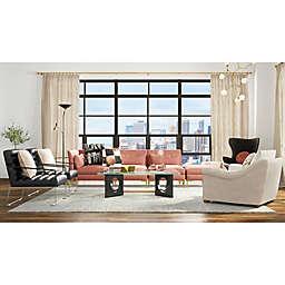 Splash of Coral Living Room