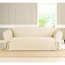Sure Fit® Heavyweight Box Seat Loveseat Cover