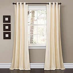 Prima Velvet 2-Pack 84-Inch Grommet Room Darkening Window Curtain Panels in Ivory
