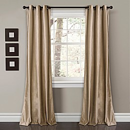 Prima Velvet 2-Pack Solid Grommet Room Darkening Window Curtain Panels