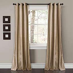 Prima Velvet 2-Pack Solid Grommet Room Darkening Window Curtain Panels